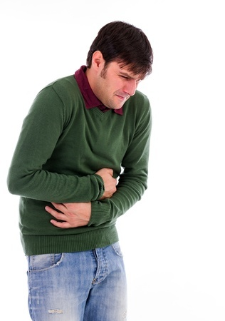 A young man with abdominal pain