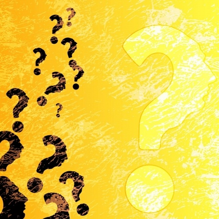 Red question marks to denote FAQ pages