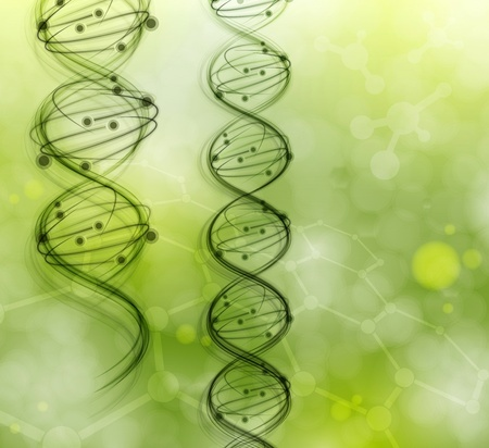 An artist's rendition of DNA molecules. Might they contain the genes associated with celiac disease?